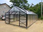 Växthus isolerplast SCANDI 400 4x4m isoler 10mm polykarbonat 16m²  (kan förlängas till 120m²)